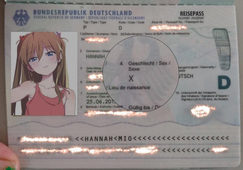 pass med könstillhörighet X